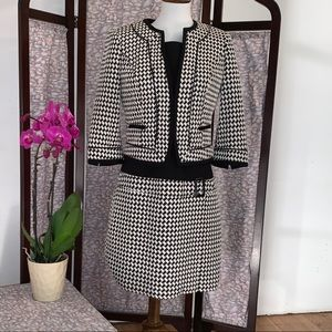 WHBM houndstooth business suit with dress & Jacket